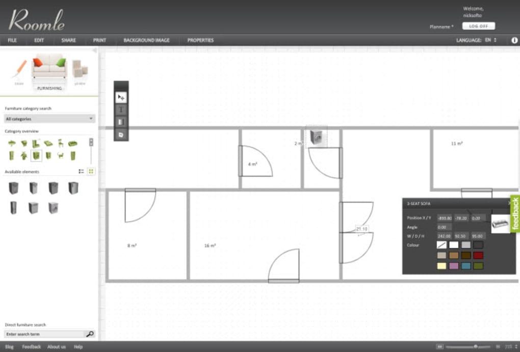 Roomle online for Crear planos 3d online