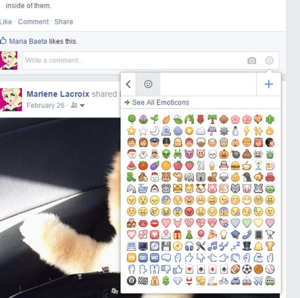 facebook emoticons pc