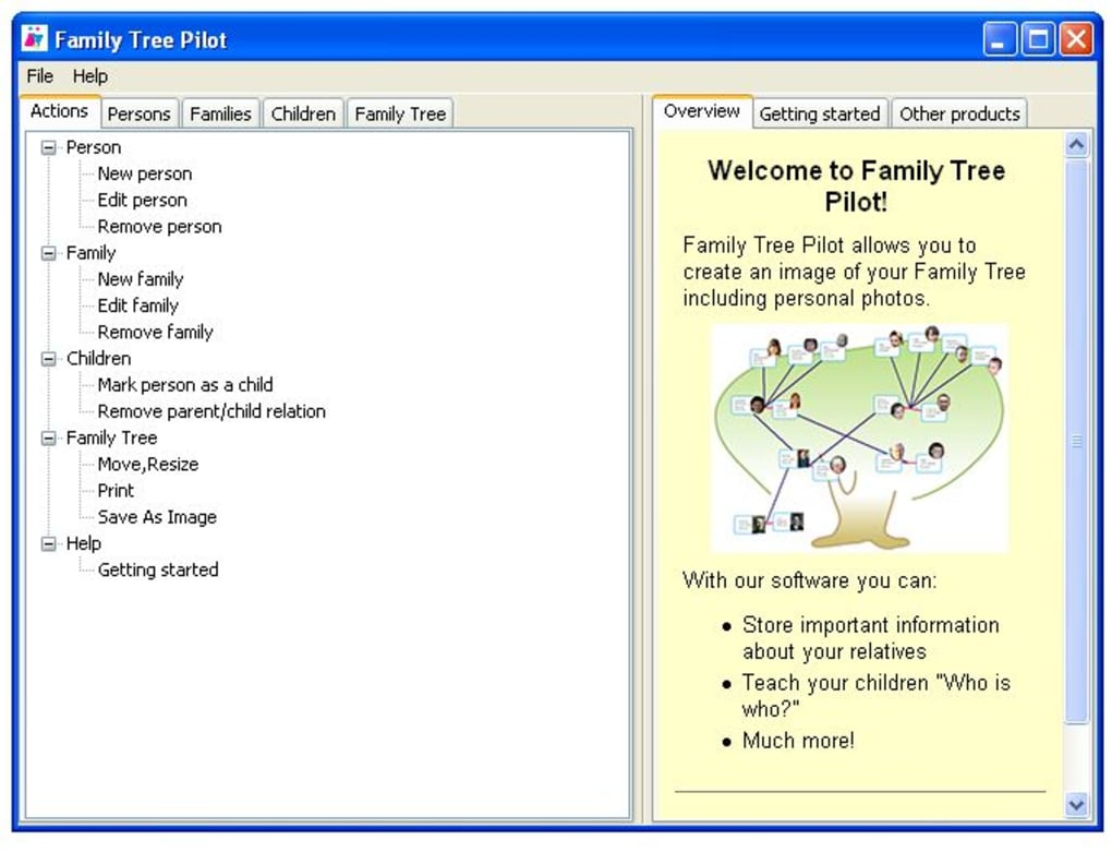 family tree pilot download