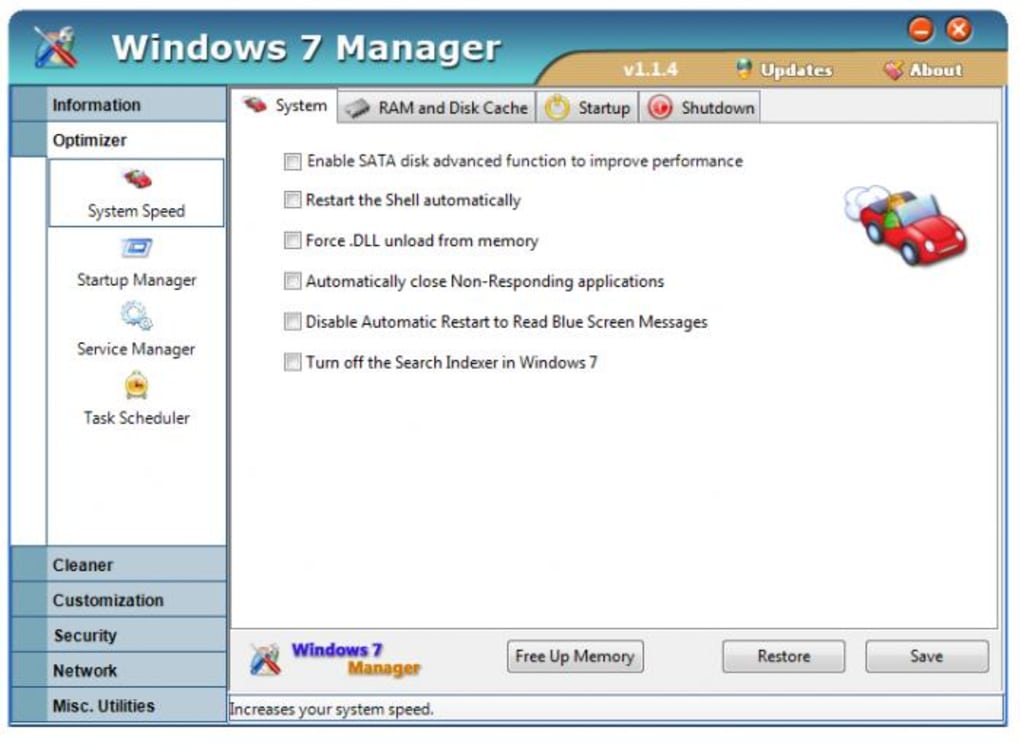 Windows 7 Manager (Windows) - Download