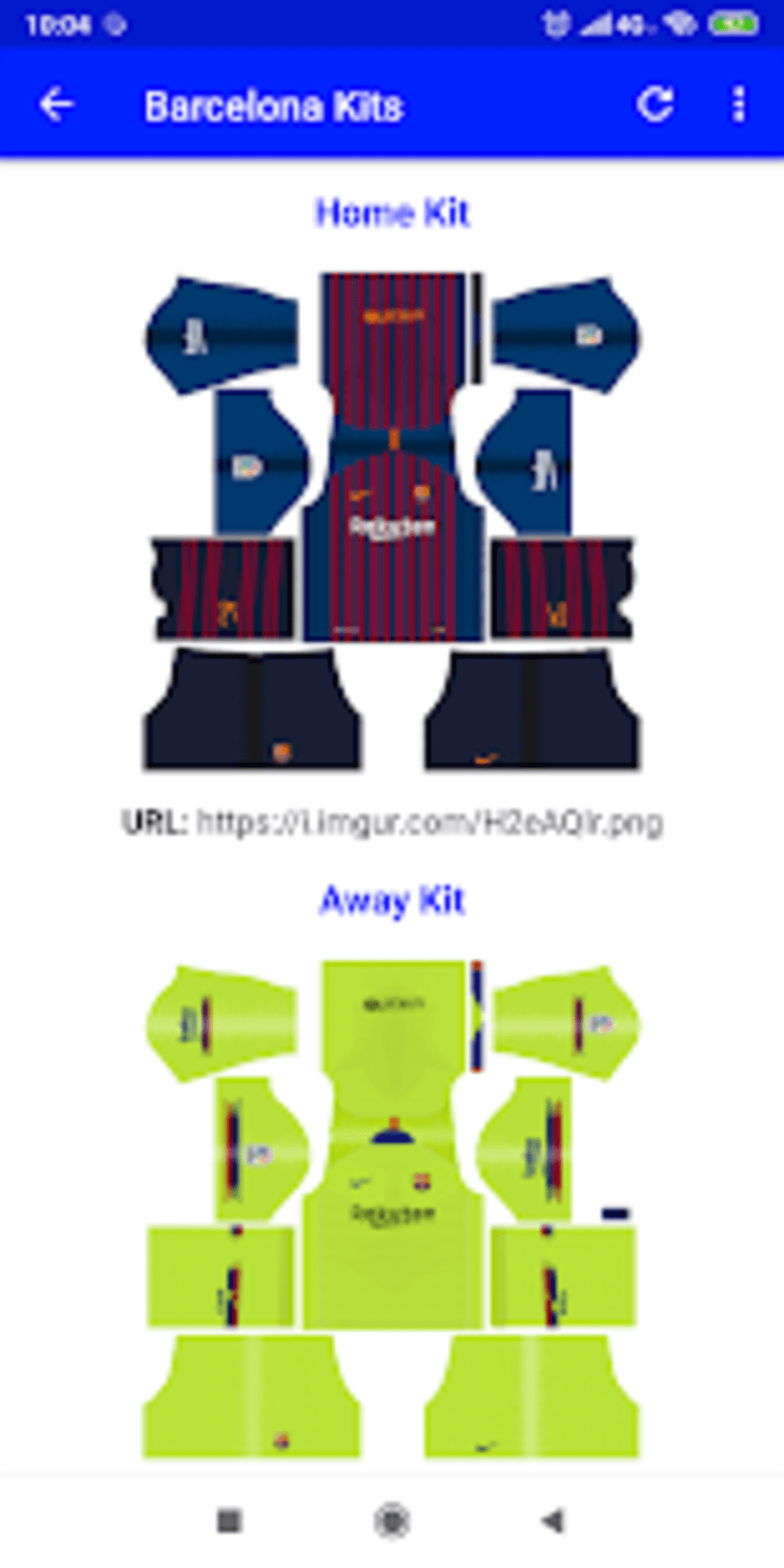 Dream League Kits para Android - Descargar