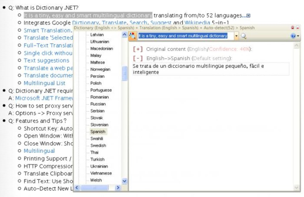 Dictionary NET - Download