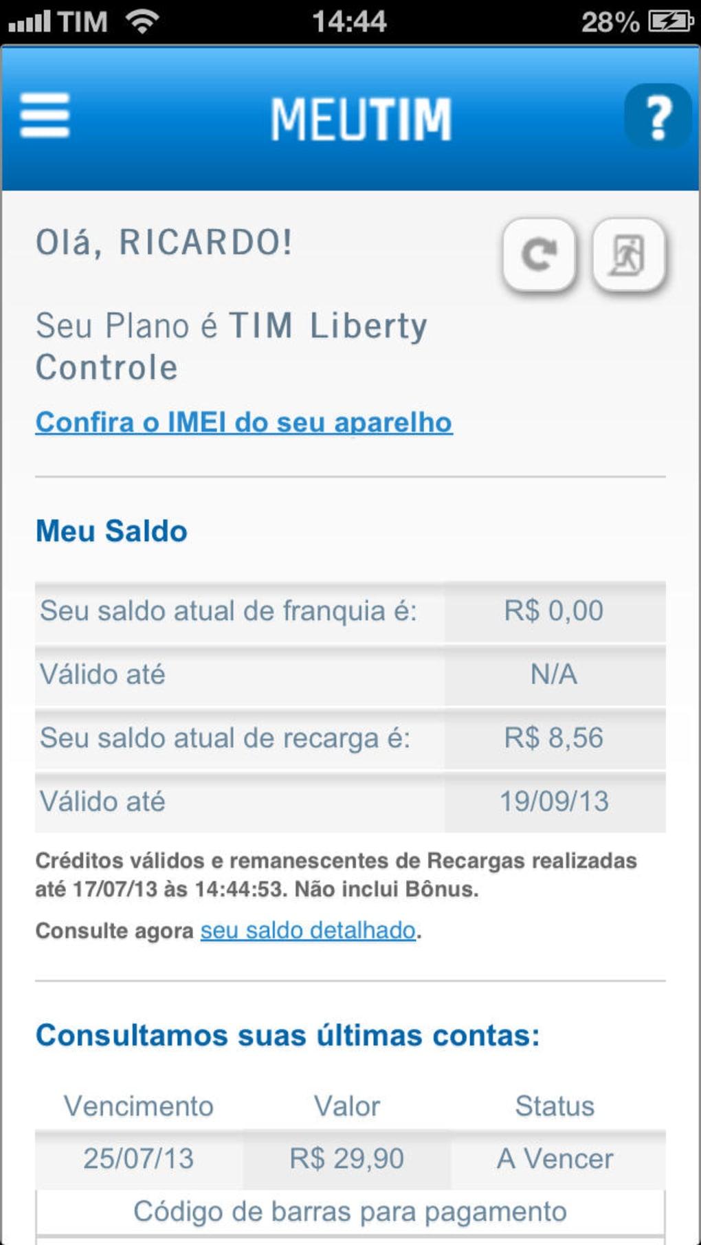 Meu TIM para iPhone - Download