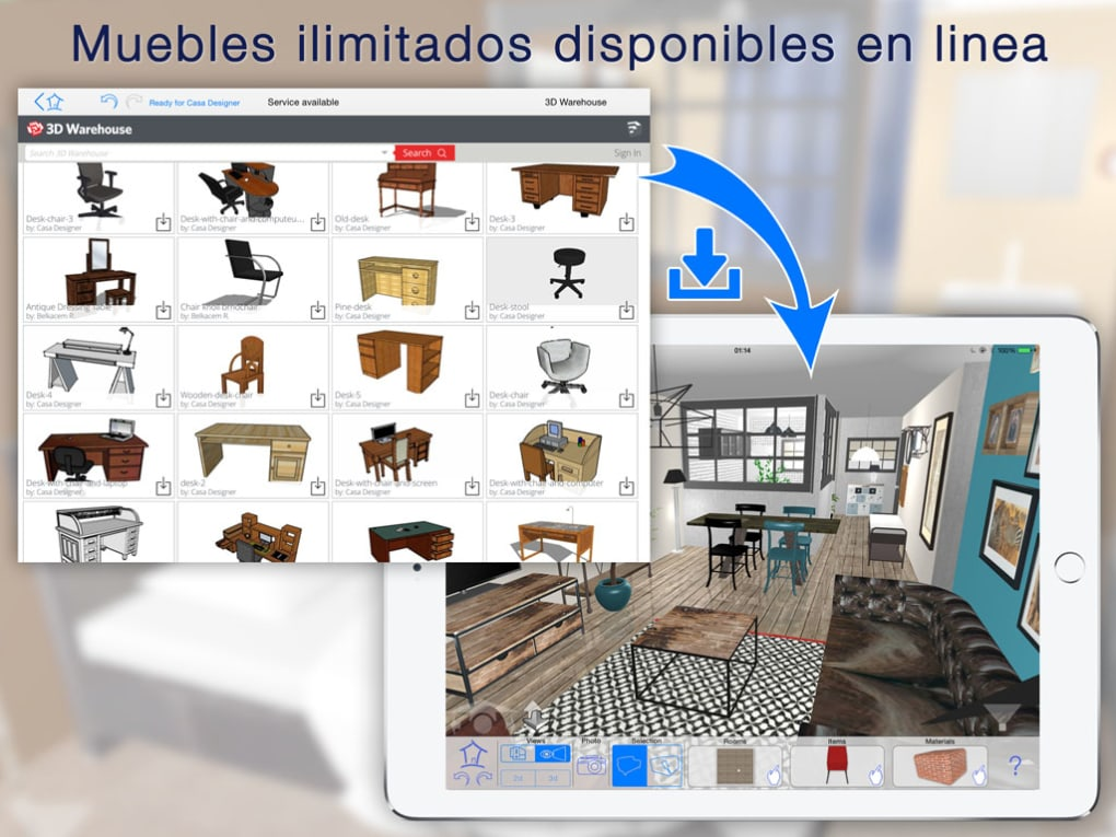 Casa Designer 3D - freemium - Home Makeover para iPhone - Descargar