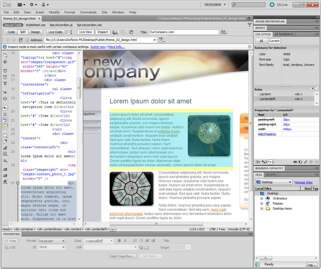 Adobe dreamweaver cc descargar for Templates for dreamweaver cc