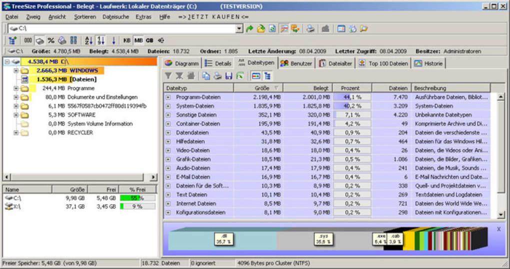 TreeSize Professional - Download