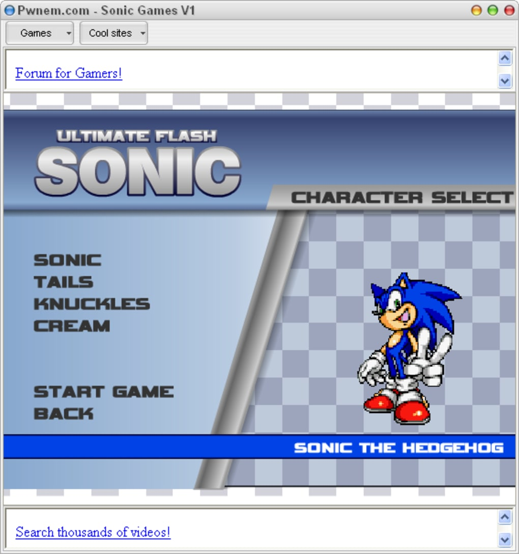 Sonic Games Download