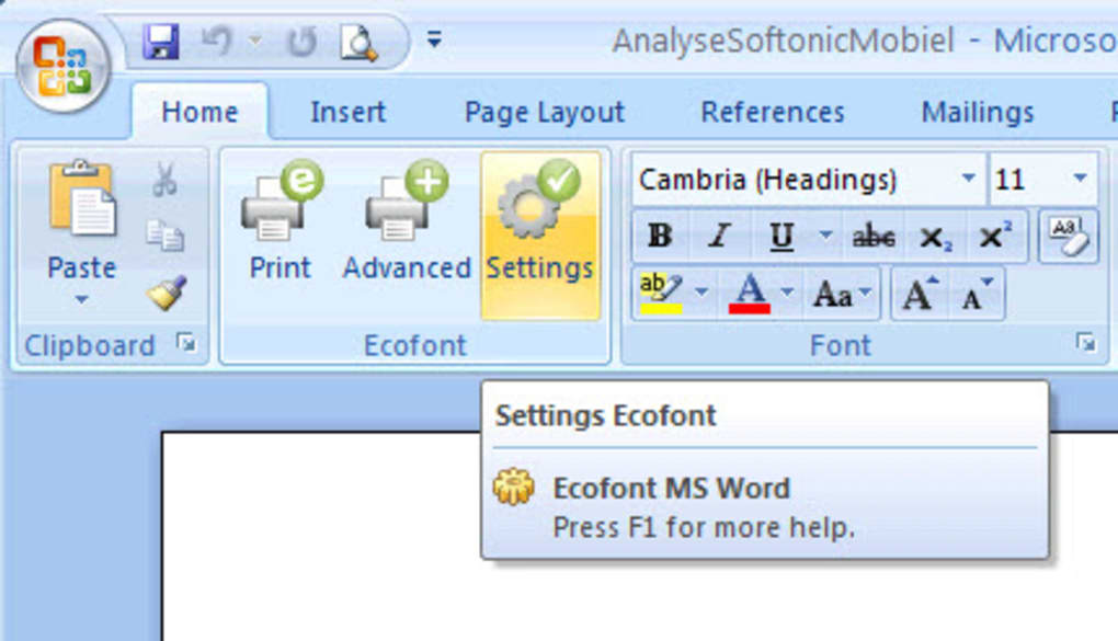 Ecofont Home Edition - Download