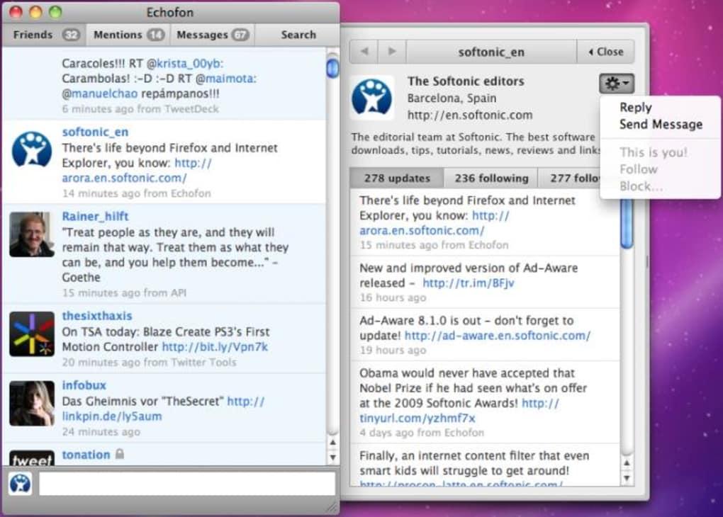 Echofon for Mac (Mac) - Download