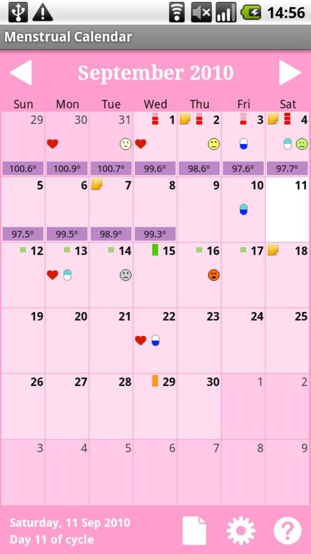 menstrual calendar apk para android descargar. Black Bedroom Furniture Sets. Home Design Ideas