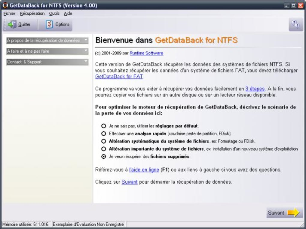 GETDATABACK NTFS 4.01 FOR TÉLÉCHARGER