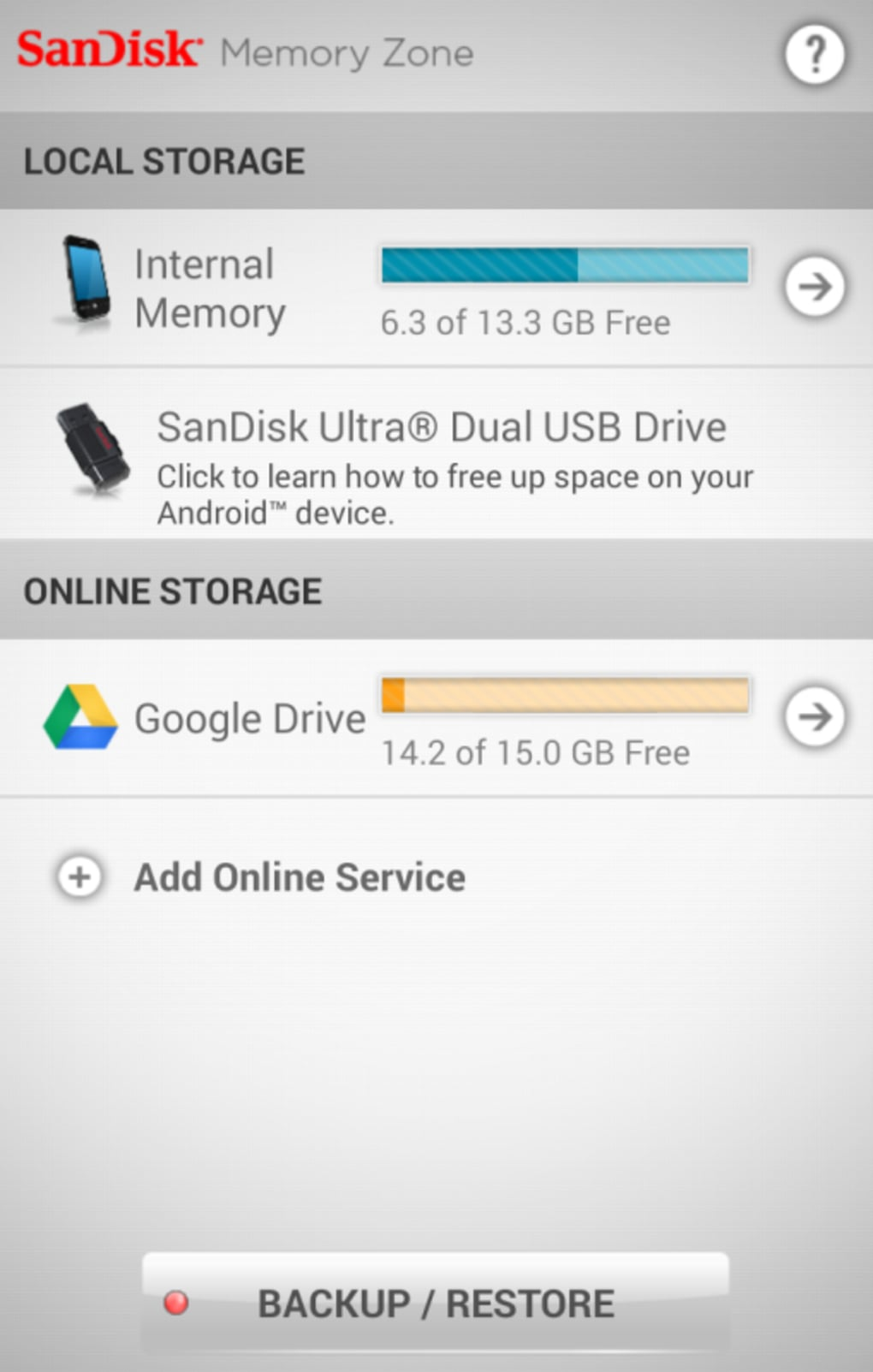 SanDisk Memory Zone for Android - Download