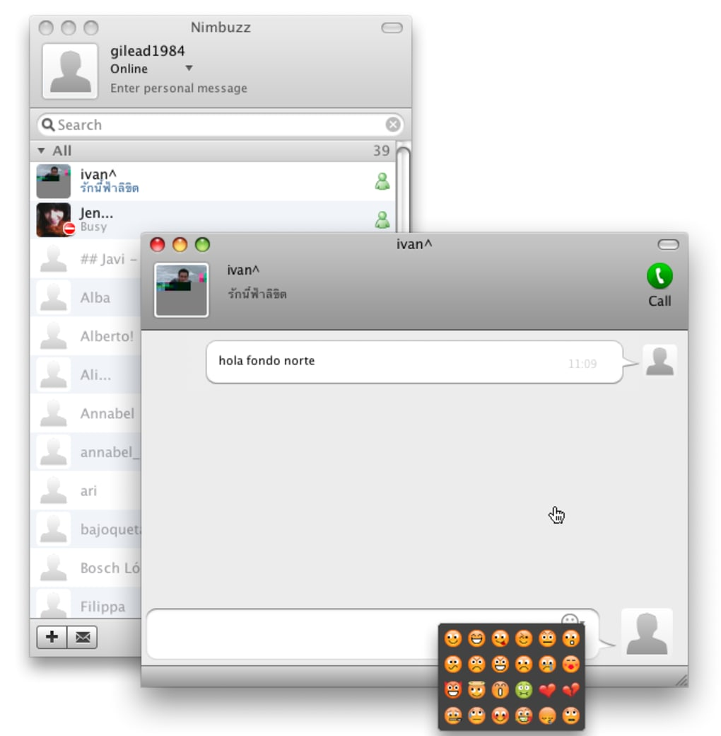 Nimbuzz pour Mac - Télécharger