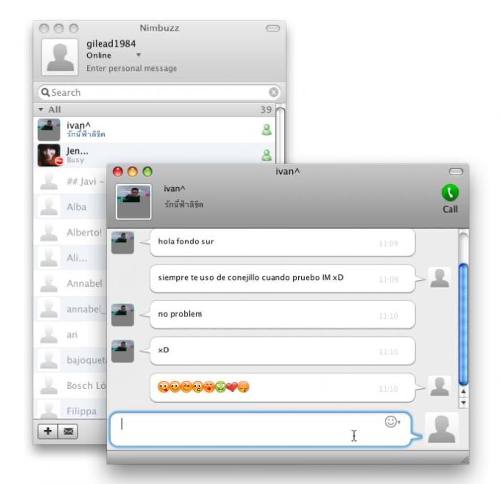 Nimbuzz for Mac - Download