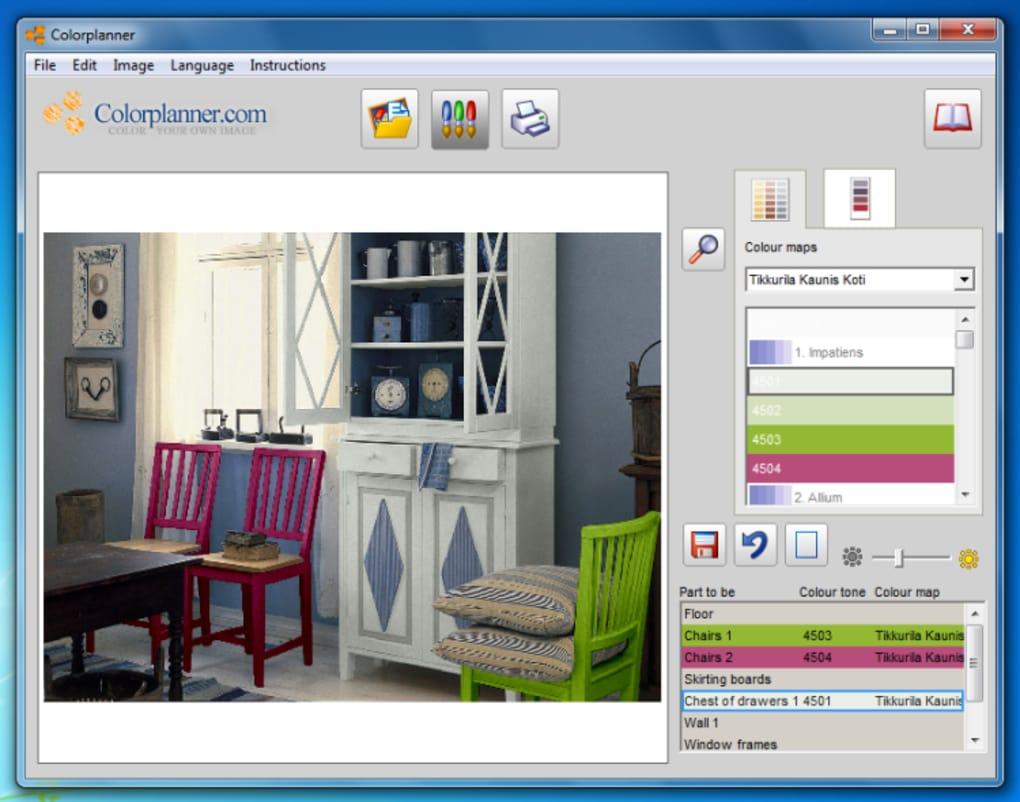 color planner download