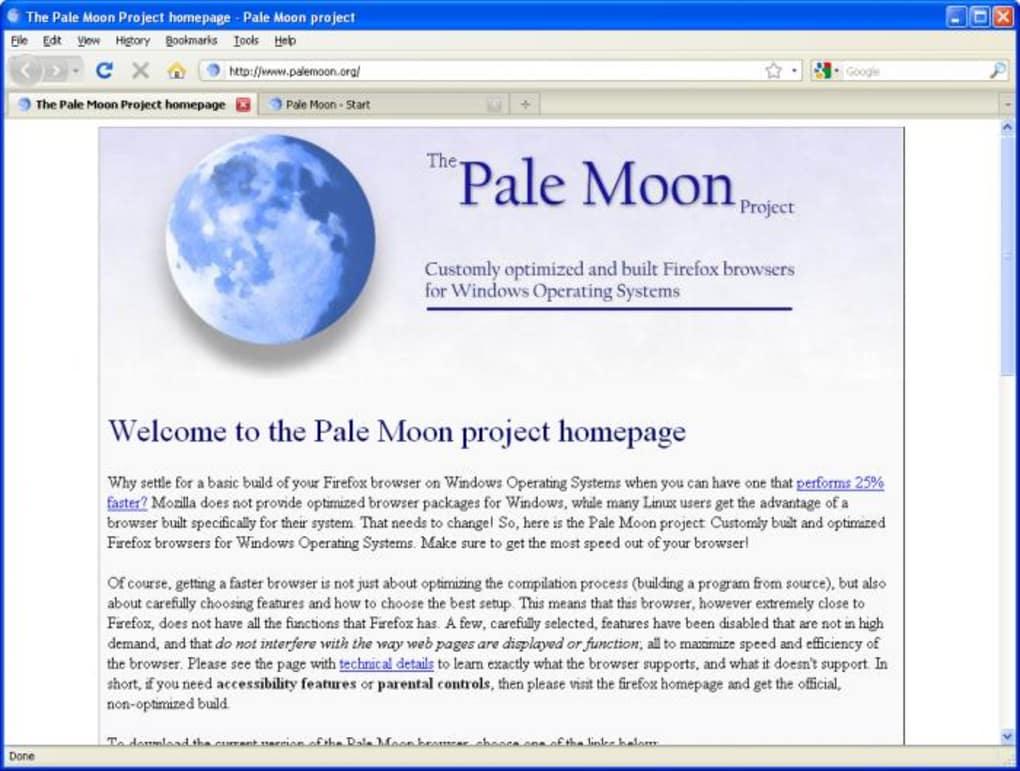 mozilla firefox vs pale moon