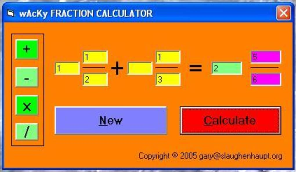 Wacky Fraction Calculator - Download