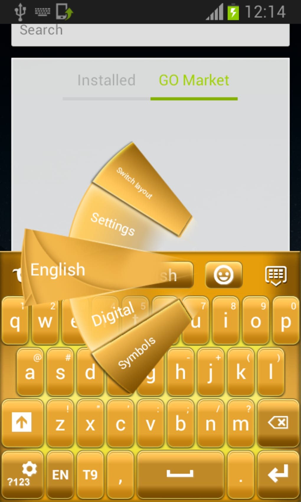 go keyboard apk android 2.2