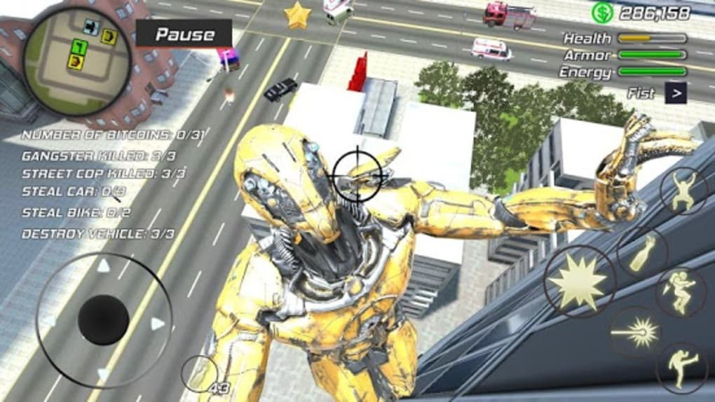 Super Crime Steel War Hero Iron Flying Mech Robot for Android - Download