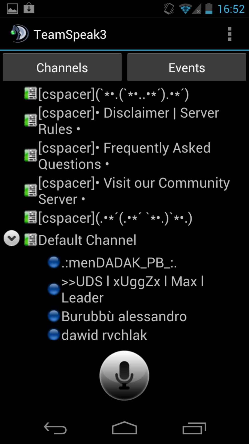 teamspeak identity android