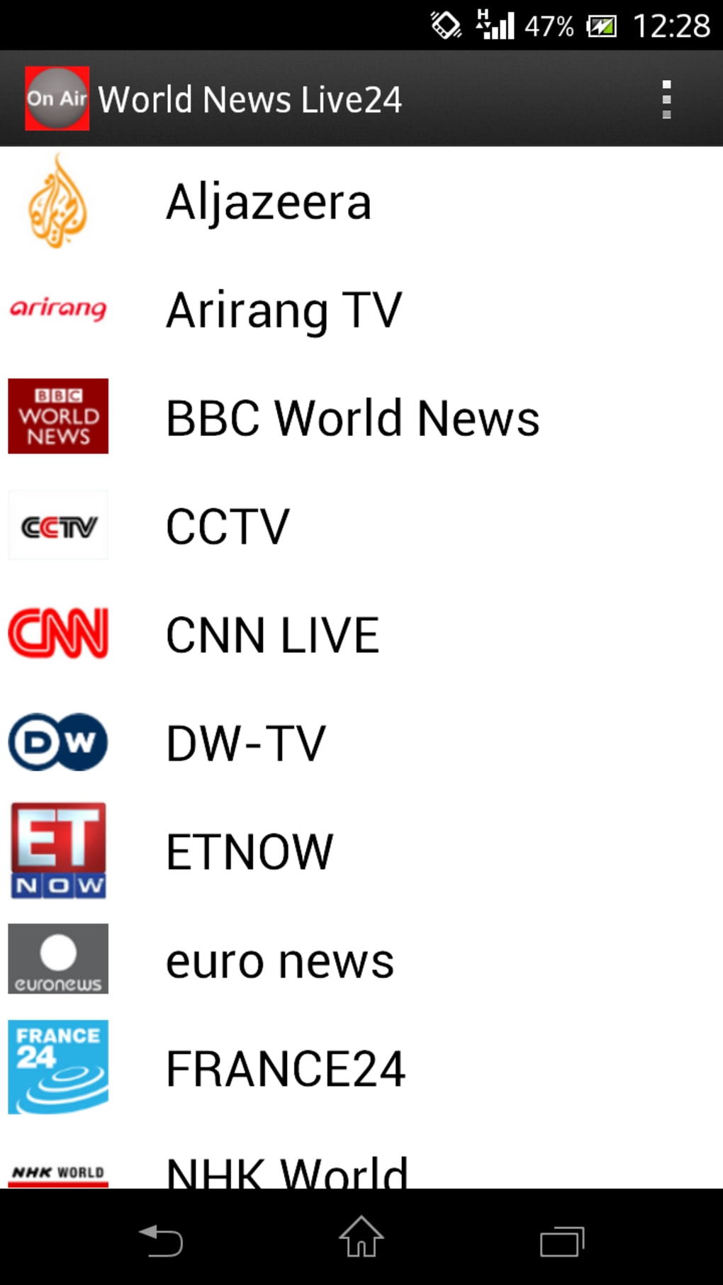 world news live24 for android ダウンロード