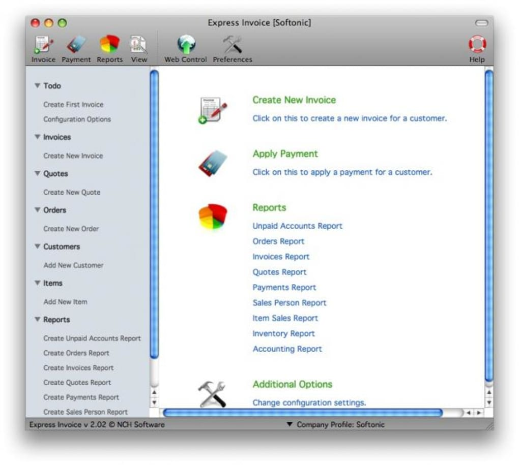 express invoice for mac download
