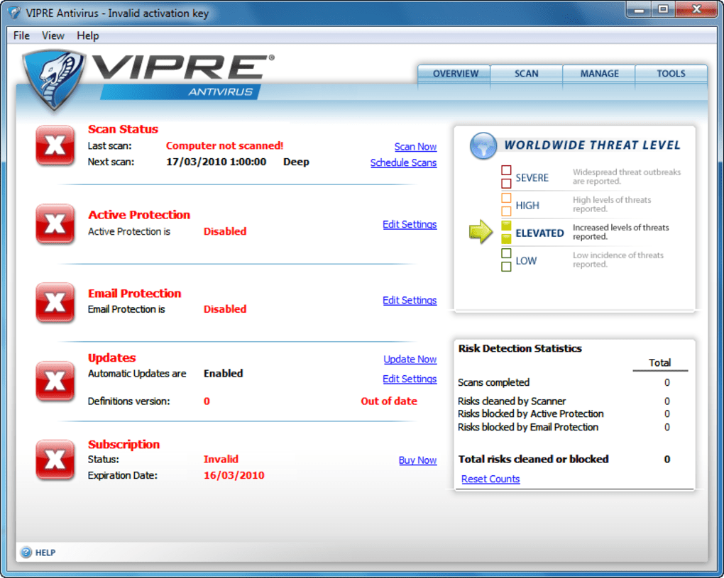 vipre windows 10