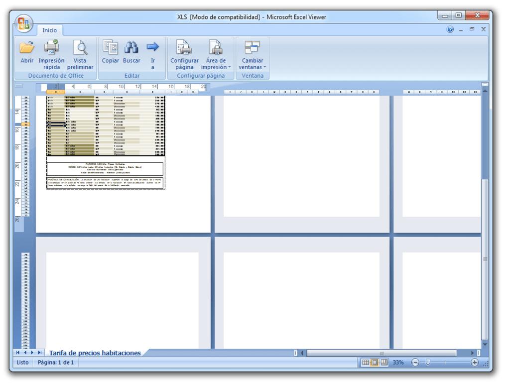 Microsoft Excel Viewer - Descargar