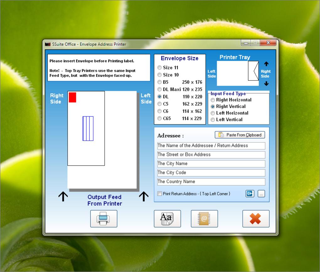 SSuite Envelope Printer - Download