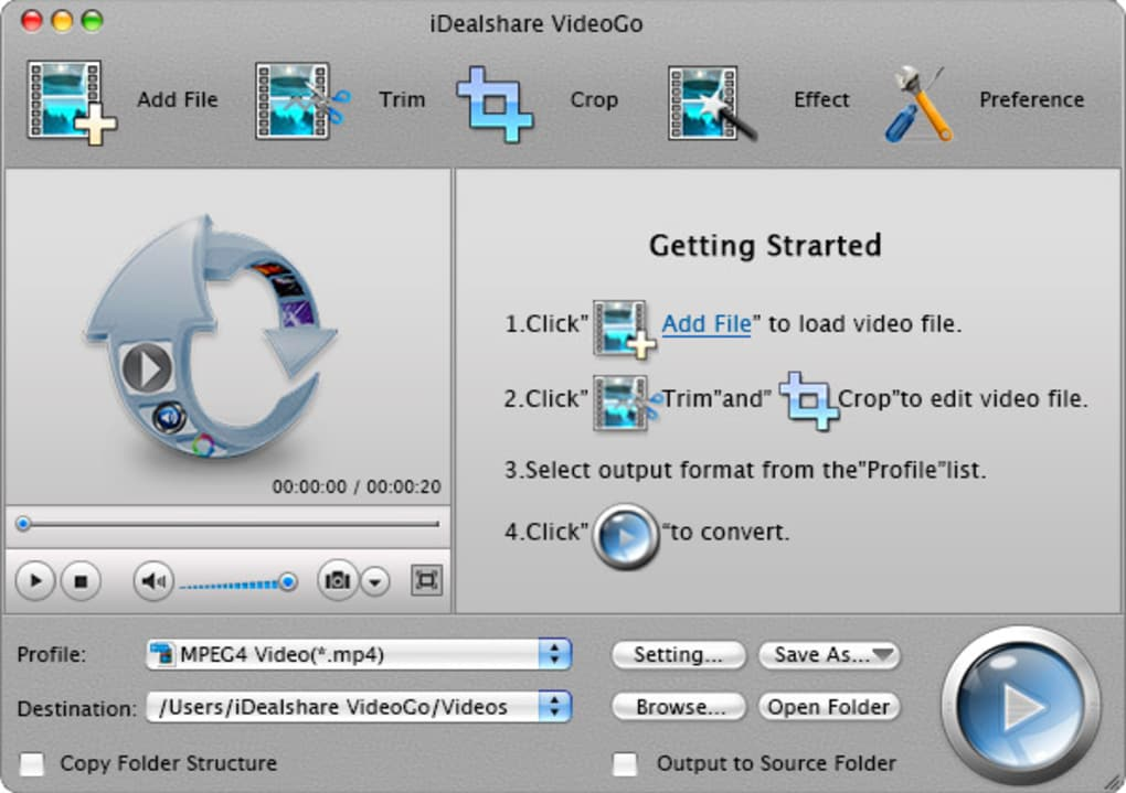iDealshare VideoGo for Mac (Mac) - Download