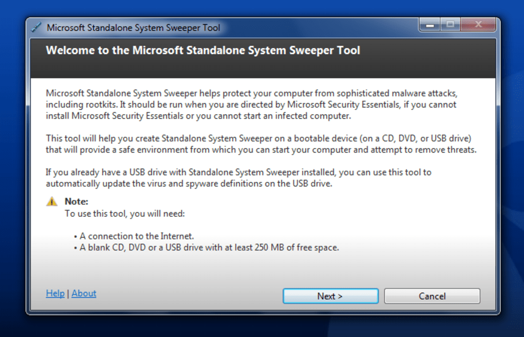 Microsoft Standalone System Sweeper - Download