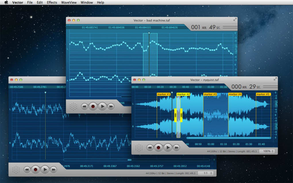 Vector 2 Express - Audio Recorder and Editor for Mac - Download