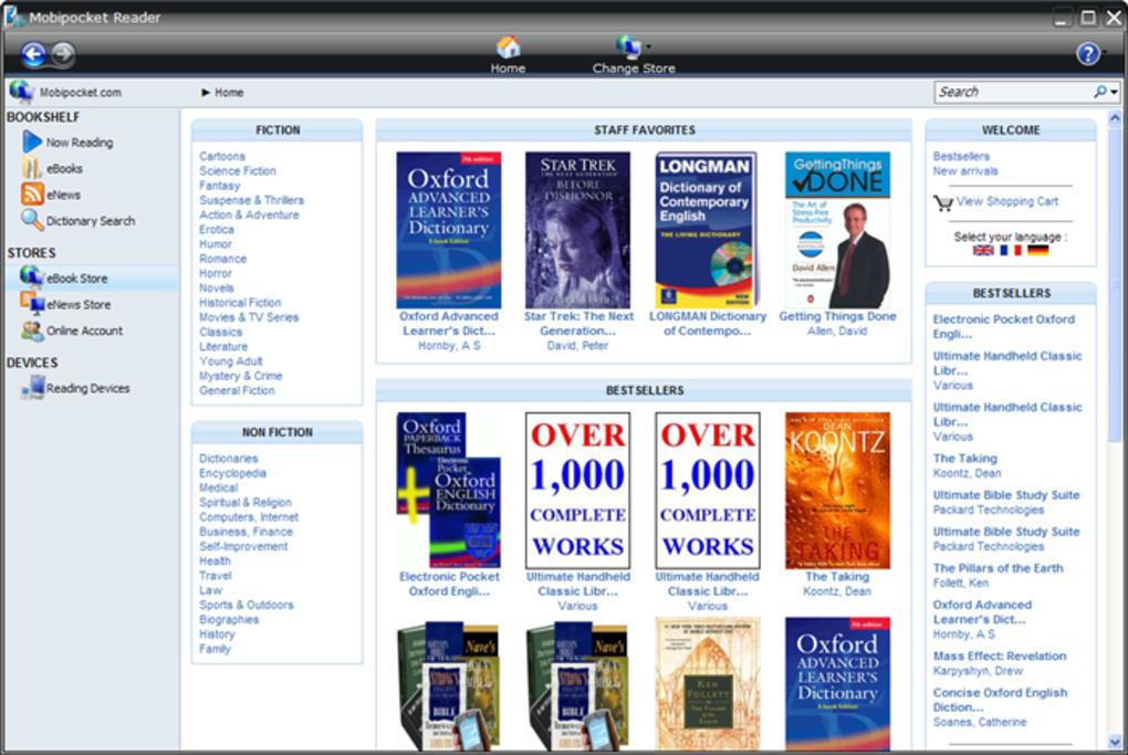 Pc for mobipocket reader download ebook
