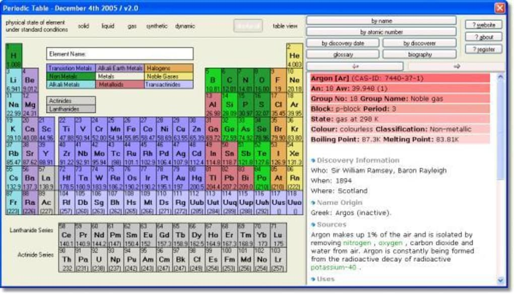 Periodic table download softonic review urtaz Image collections