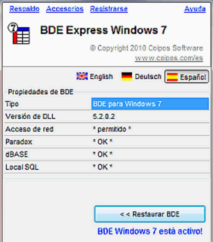 bde pour windows 7 gratuit