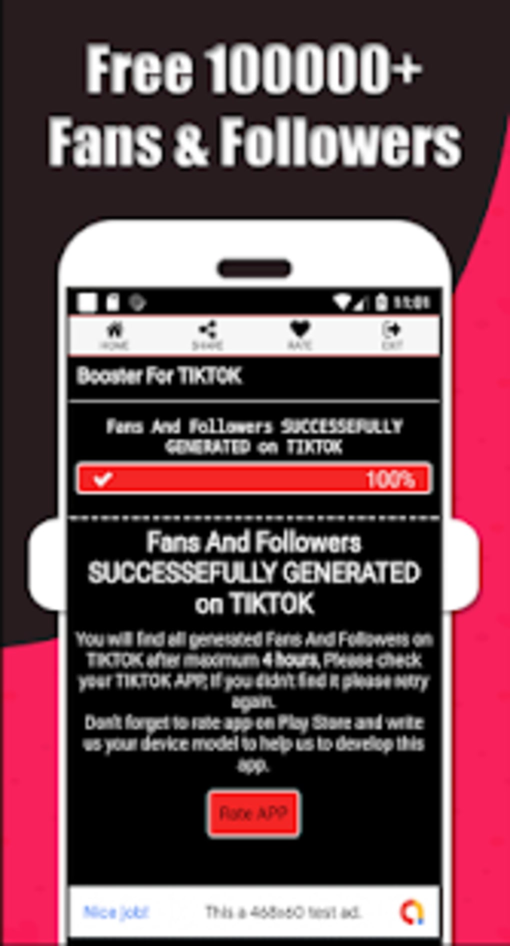 TikBoosting : Real TikTok Likes Fans Followers for Android
