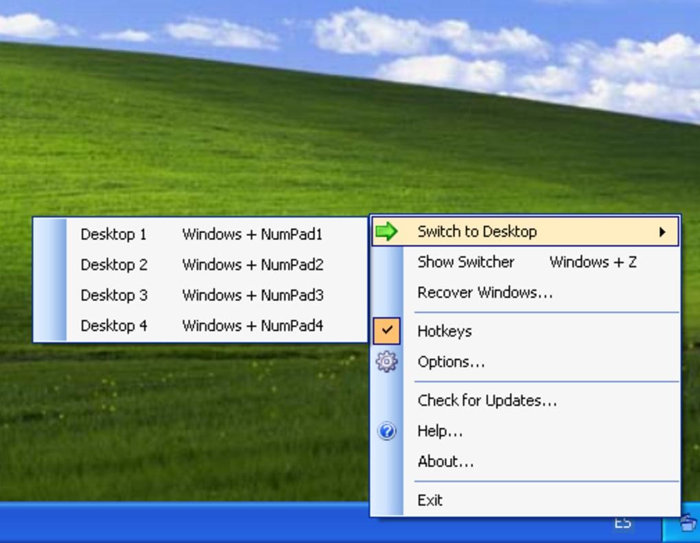 vista xp virtual desktop manager 0.9.1