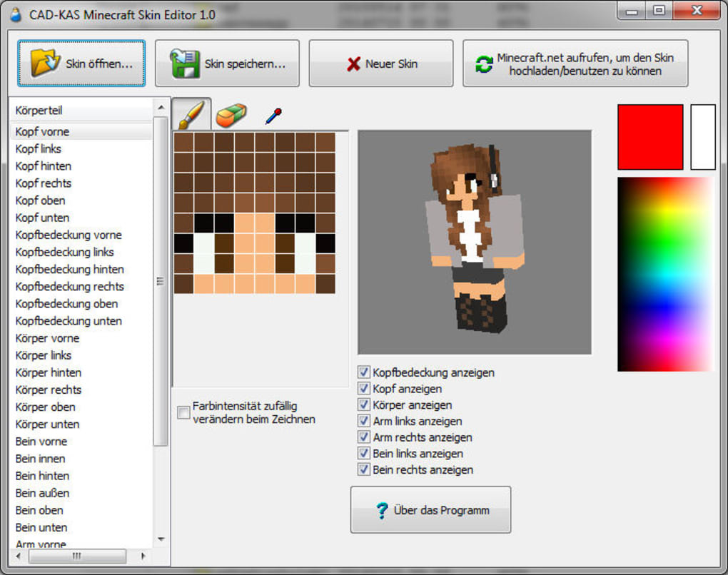Minecraft Skin Editor Launcher - Muat Turun m