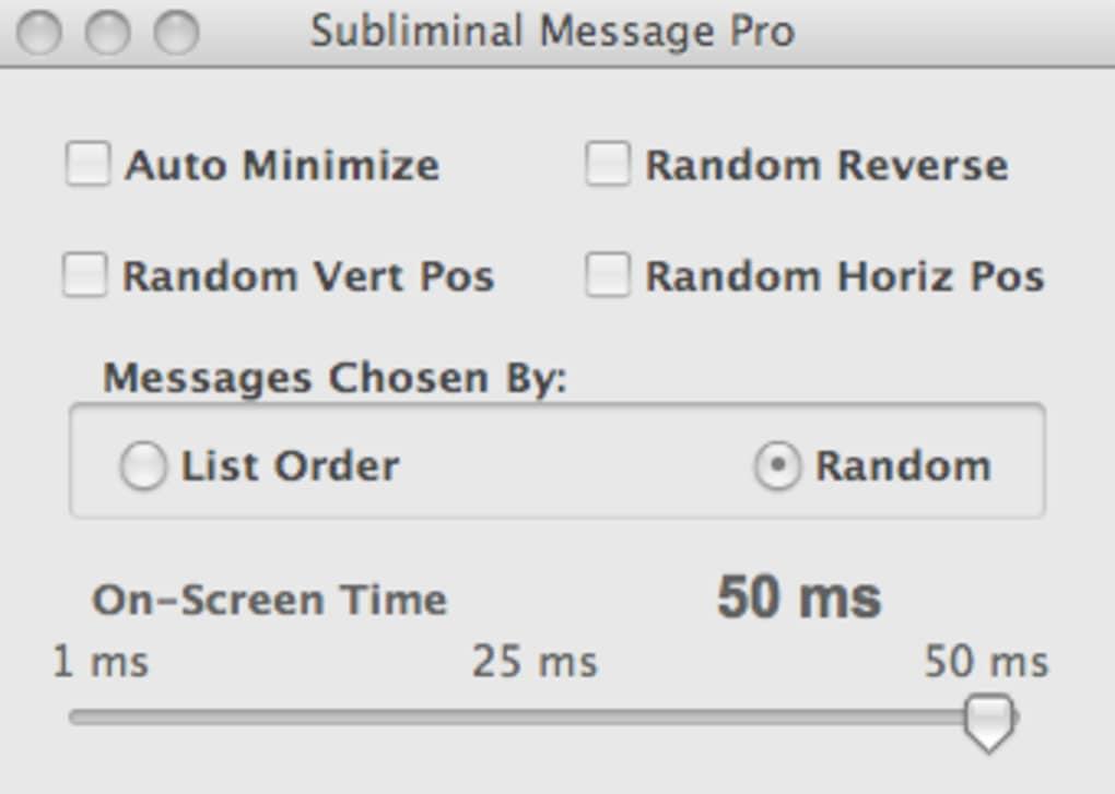 Subliminal Message Pro for Mac - Download