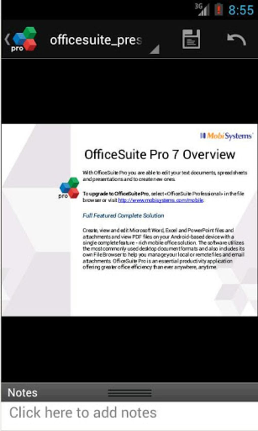 download free office suite pro 7 for android
