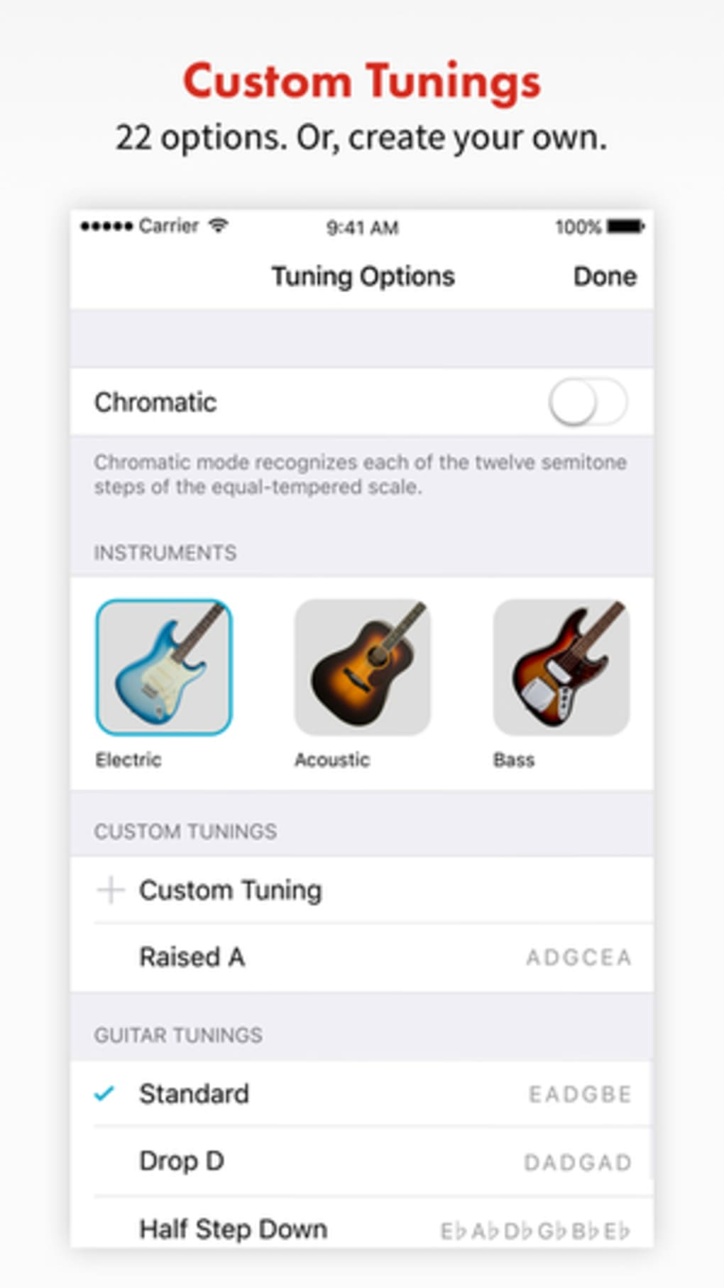 fender tune guitar tuner for acoustic and bass for iphone download. Black Bedroom Furniture Sets. Home Design Ideas