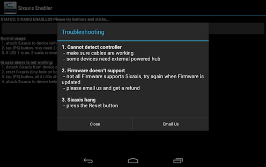 Sixaxis Enabler for Android - Download