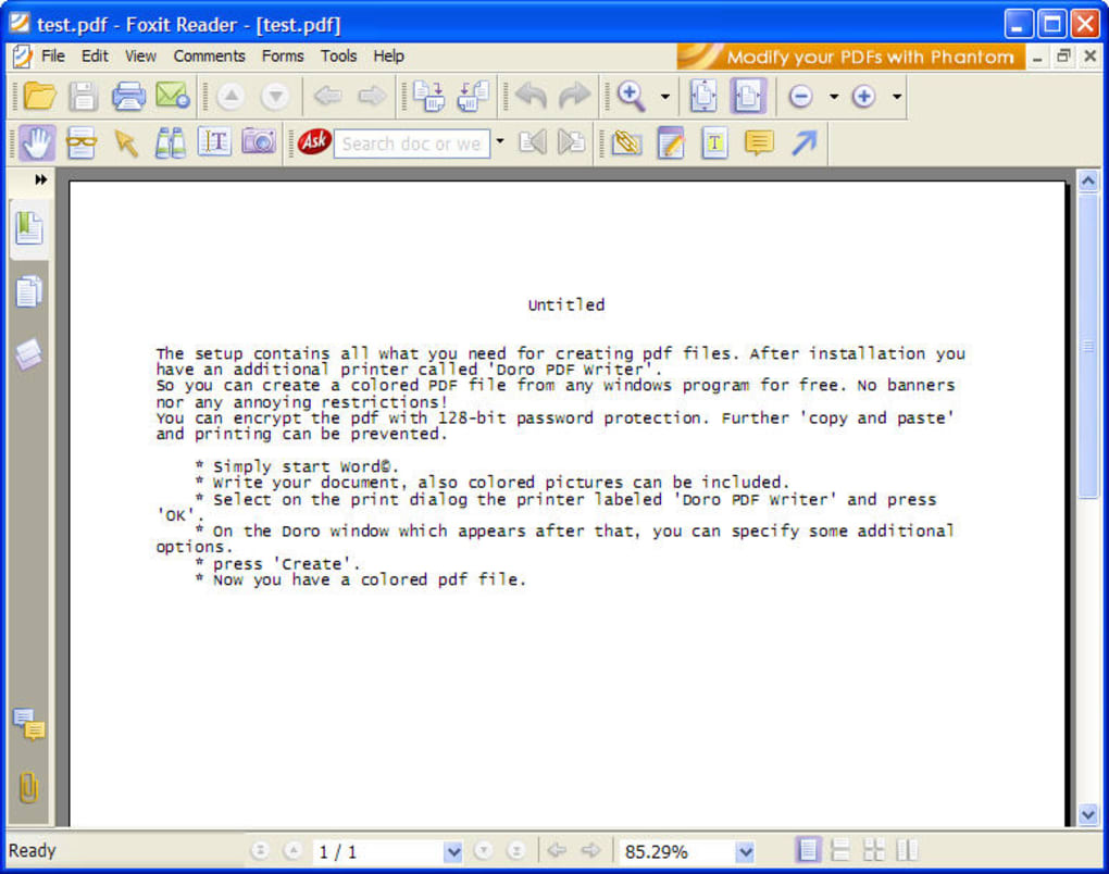 FREE PDF WRITER READER DOWNLOAD