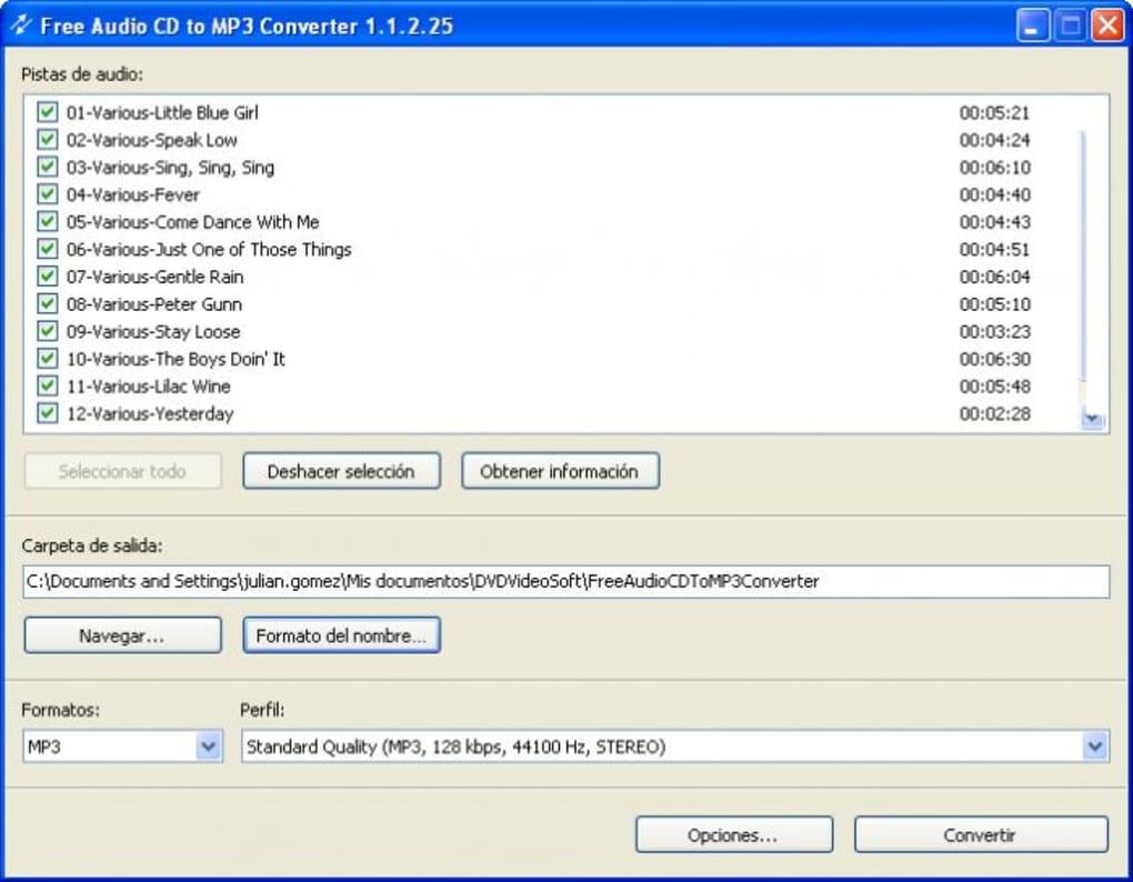 Free Audio CD To MP3 Converter - Descargar
