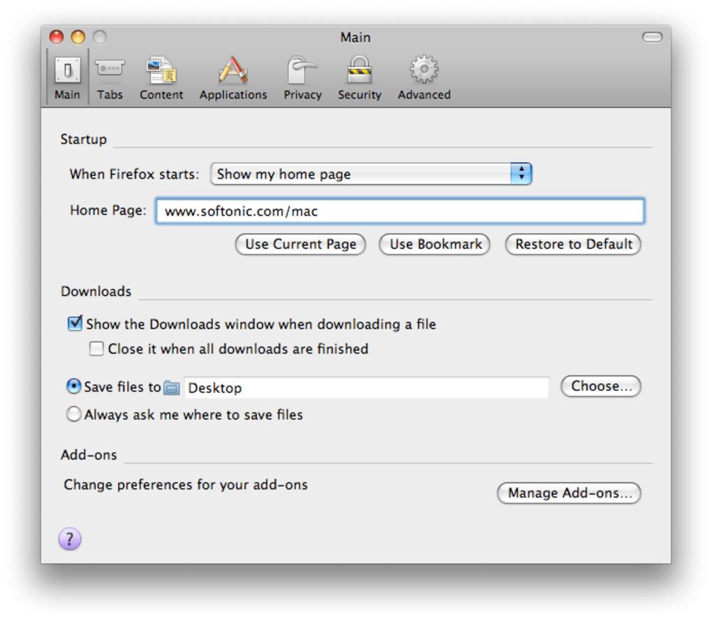 Firefox Portable para Mac - Descargar