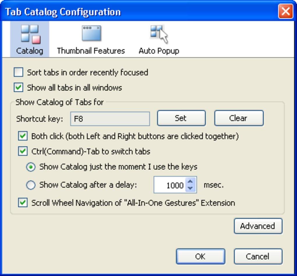 Tab Catalog