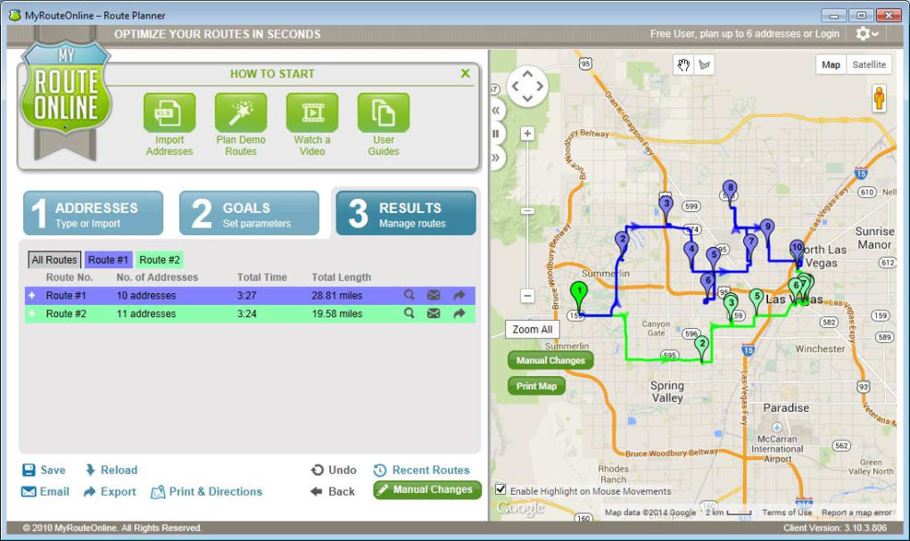 free route planner myrouteonline download