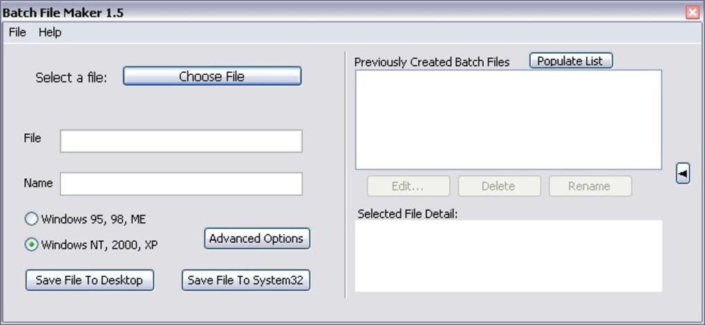 Batch File Maker - Download