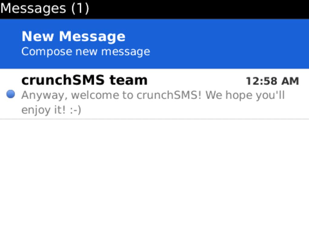 crunch sms blackberry curve 8520 gratuit