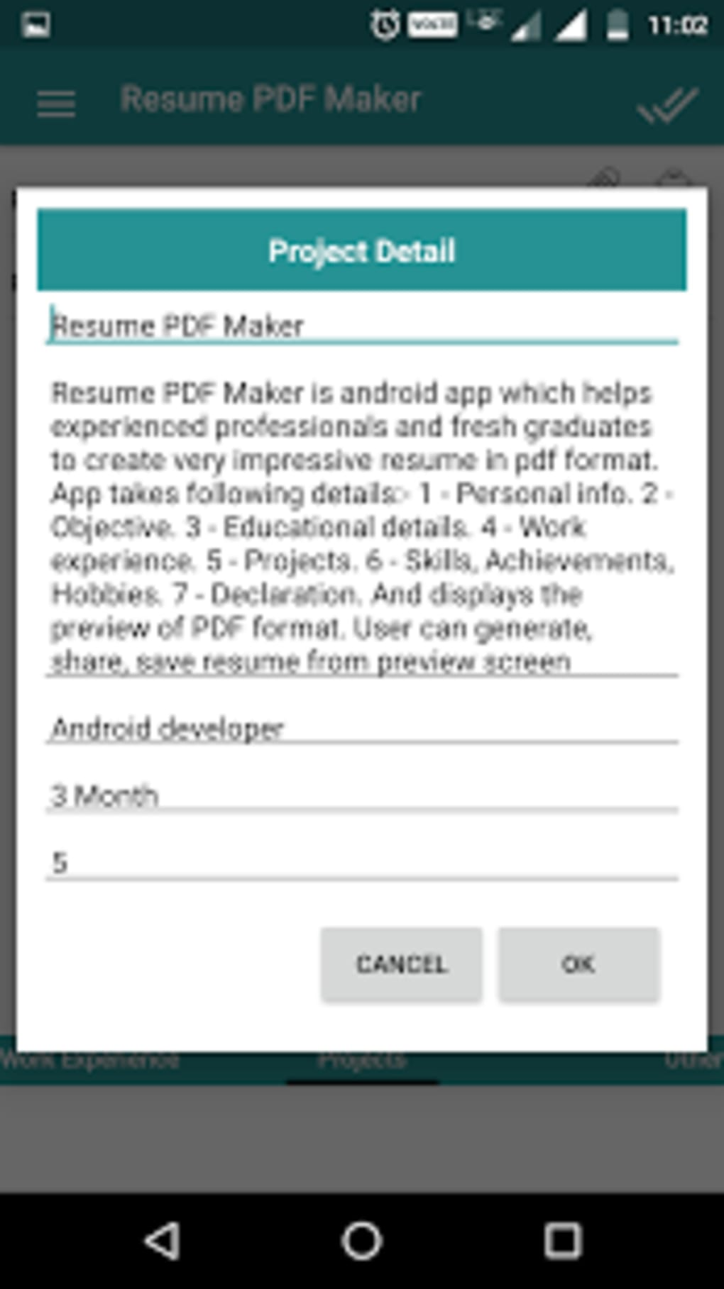 Resume PDF Maker / CV Builder for Android - Download